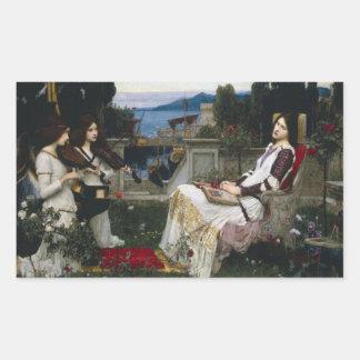 Heilige Cecilia (1895) Rechthoekige Sticker