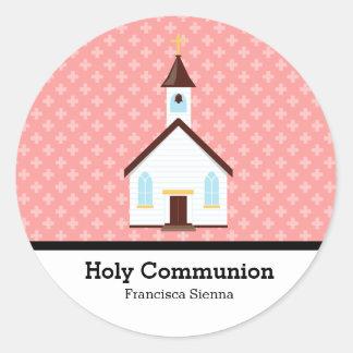 Heilige Communie Ronde Sticker