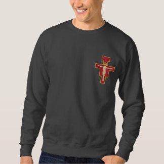 Heilige Damiano Cross Geborduurde Sweater