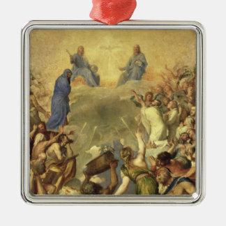 Heilige Drievuldigheid, 1553/54 (olie op canvas) Zilverkleurig Vierkant Ornament