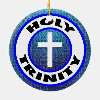 Heilige Drievuldigheid Rond Keramisch Ornament