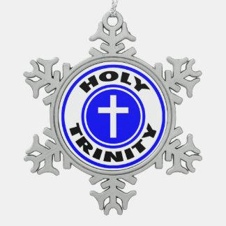 Heilige Drievuldigheid Tin Sneeuwvlok Ornament