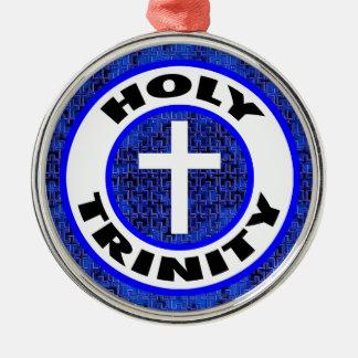 Heilige Drievuldigheid Zilverkleurig Rond Ornament