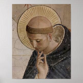 Heilige Francis van Assisi in Overpeinzing Poster