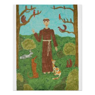 Heilige Francis van Assisi Perfect Poster