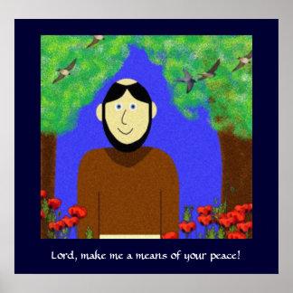Heilige Francis van Assisi Poster