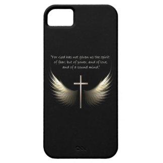 Heilige Geest en Christelijk Kruis met het Vers Barely There iPhone 5 Hoesje