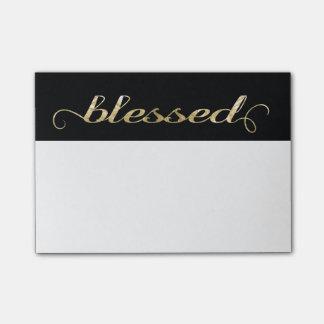 Heilige, Gouden folie-Blik Inspirerend Dankbaar Post-it® Notes