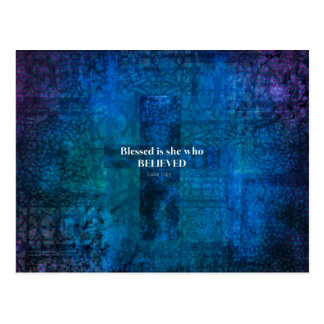 Heilige het 1:4 van Luke is zij die geloofde Briefkaart