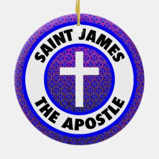 Heilige James de Apostel Rond Keramisch Ornament