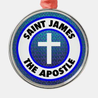 Heilige James de Apostel Zilverkleurig Rond Ornament