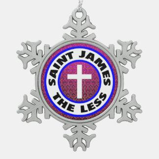 Heilige James minder Tin Sneeuwvlok Ornament