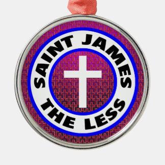 Heilige James minder Zilverkleurig Rond Ornament