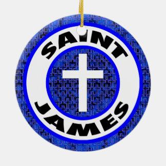 Heilige James Rond Keramisch Ornament