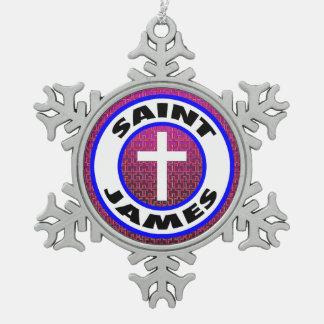 Heilige James Tin Sneeuwvlok Ornament