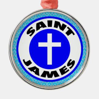 Heilige James Zilverkleurig Rond Ornament
