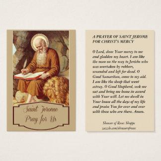 Heilige Jerome Scripture Pen Monk Visitekaartjes
