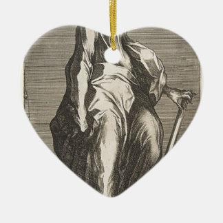 Heilige Jude (of Heilige Matthias) Keramisch Hart Ornament