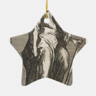Heilige Jude (of Heilige Matthias) Keramisch Ster Ornament