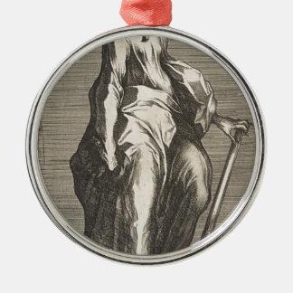 Heilige Jude (of Heilige Matthias) Zilverkleurig Rond Ornament