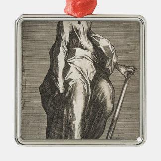 Heilige Jude (of Heilige Matthias) Zilverkleurig Vierkant Ornament