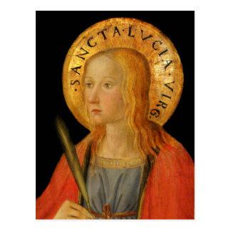 Heilige Lucy Lucia c1470 Briefkaart