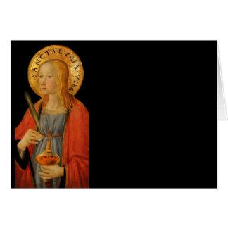 Heilige Lucy Lucia c1470 Kaart