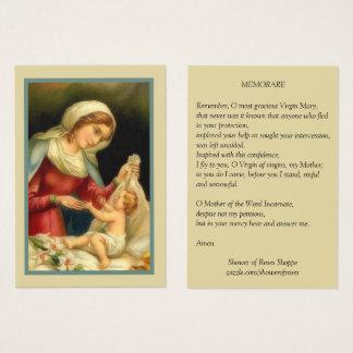 Heilige Maagdelijke Mary Baby Jesus Memorare Visitekaartjes