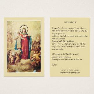 Heilige Maagdelijke Mary Jesus Angels Memorare Visitekaartjes