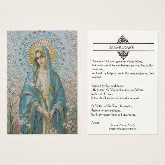Heilige Maagdelijke Mary met de Heilige Kaart van Visitekaartjes