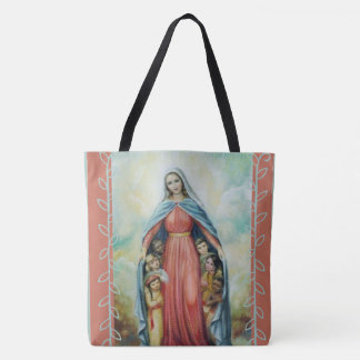 Heilige Maagdelijke Mary met kinderen Draagtas