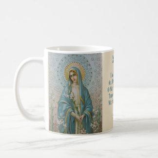 Heilige Maagdelijke Mary met Lelie Koffiemok