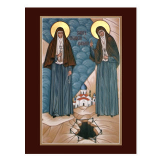 Heilige Martelaren Elizabeth en Barbara Prayer Briefkaart