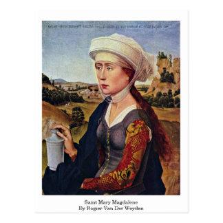 Heilige Mary Magdalene. Door Rogier van der Weyden Briefkaart