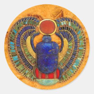 Heilige Mestkever van Oud Egypte Ronde Sticker