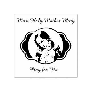Heilige Moeder Mary Baby Jesus Rubberstempel