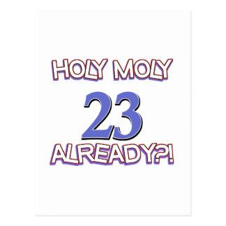 Heilige Moly 23 reeds verjaardagsOntwerp Briefkaart