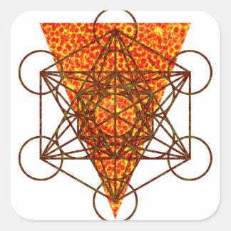 heilige pizzametry vierkante sticker