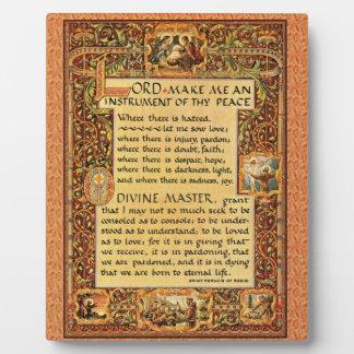 Heilige St.Francis van het Eenvoudige Gebed van Fotoplaat