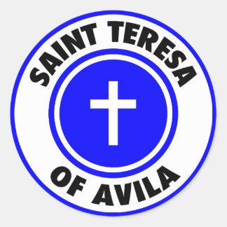 Heilige Teresa van Avila Ronde Stickers