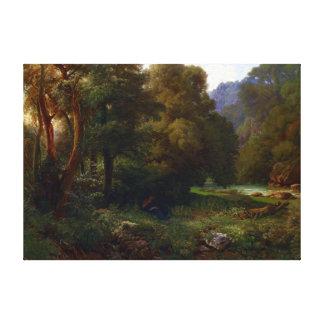 Heinrich Dreber Mountain Canvas Afdruk