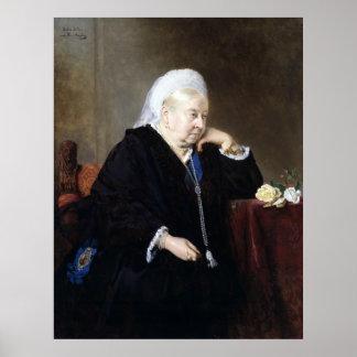 Heinrich von Angeli Koningin Victoria Poster