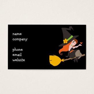 Heks die een Bezemsteel berijden Visitekaartjes