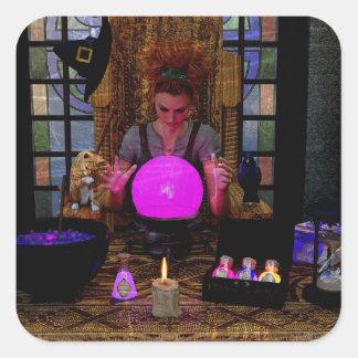 Heks met de Magische Stickers van de Kristallen