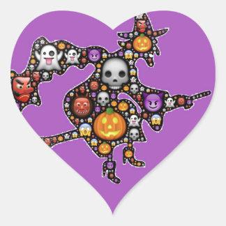 heksen emoji hart sticker