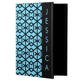 Helder Blauw Geometrisch Patroon iPad Air Hoesje