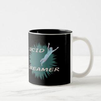 Helder de mokontwerp van de droomkoffie tweekleurige koffiemok