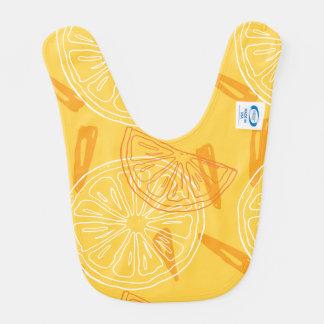 Helder geel citroenen getrokken de zomerpatroon baby slabbetje