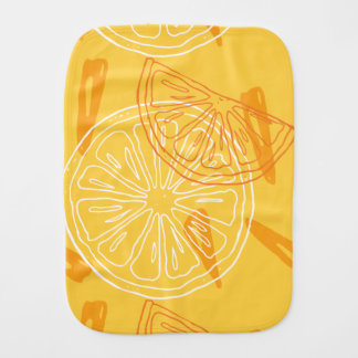 Helder geel citroenen getrokken de zomerpatroon monddoekje