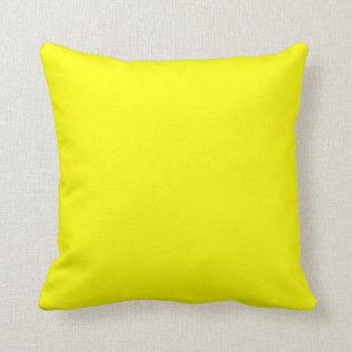 helder geel hoofdkussen sierkussen
